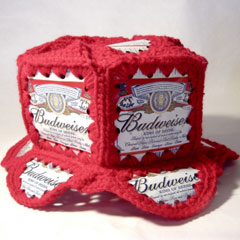 Olympia Beer Can Crocheted Hat - Hats Kitsch - The Allee Willis